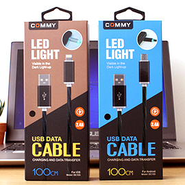 Commy Review : USB DATA CABLE LED 2.4 A